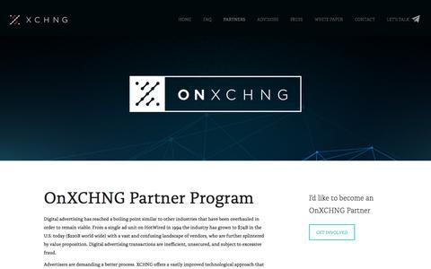 OnXCHNG Partner Program | XCHNG