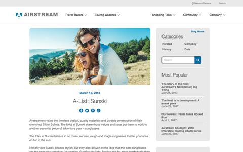 a12ff3205b0c Screenshot of Blog airstream.com - A-List  Sunski