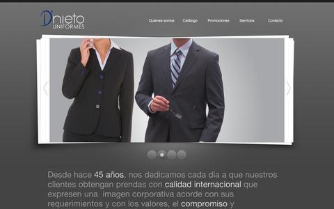 Screenshot of Home Page dnieto.com.mx - D'nieto Uniformes | Uniformes empresariales - captured Oct. 7, 2014