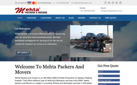 Mehta Packers & Movers | Jabalpur Packers & Movers | All India Shifting