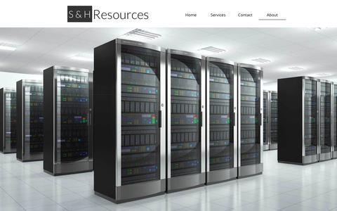 Screenshot of About Page sandhresources.com - About - captured July 25, 2018