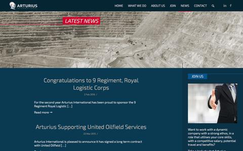 Screenshot of Press Page arturius.net - News - Arturius International - captured Feb. 6, 2016