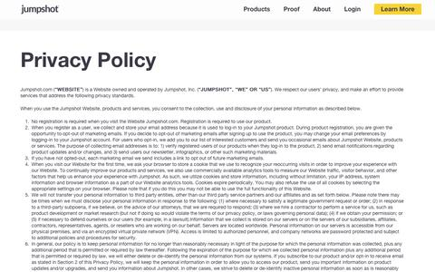 Privacy Policy | Jumpshot