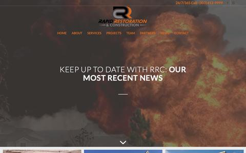 Screenshot of Press Page rapiddenver.com - News - Rapid Restoration & Construction - captured Oct. 18, 2018