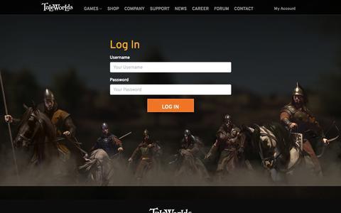 Screenshot of Login Page taleworlds.com - Login - TaleWorlds Entertainment - captured Nov. 28, 2019