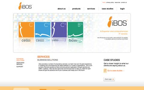 Screenshot of Services Page ibosltd.com - I-bos Limited: Comprehensive IT accounting solutions - captured Oct. 6, 2014