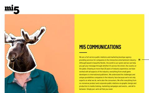 Screenshot of About Page mi5communications.com - About – Mi5 Communications - captured Sept. 20, 2018