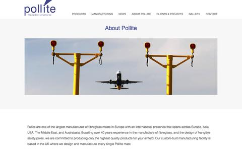 Screenshot of About Page pollite.com captured July 19, 2018