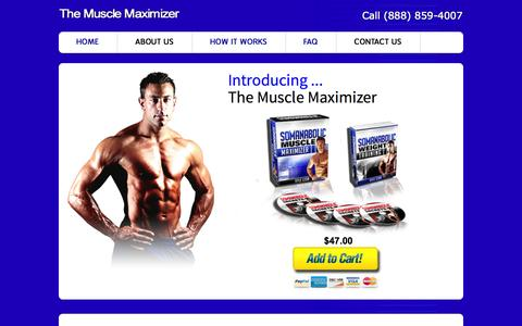 Screenshot of FAQ Page themusclemaximizer.com - The Muscle Maximizer - captured Oct. 31, 2014