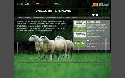 Screenshot of Home Page innovis.org.uk - Innovis: Breeding innovation - captured Sept. 10, 2014