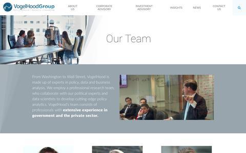 Screenshot of Team Page vogelhood.com - Our Team - VogelHood Group - captured Dec. 9, 2016