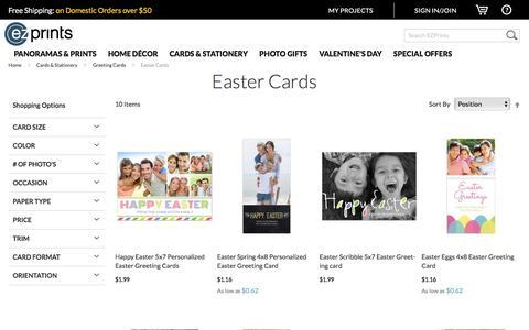 Screenshot of ezprints.com - Custom Easter Cards   Photo Easter Cards   Personalized Easter Cards - EZ Prints - captured Feb. 15, 2017