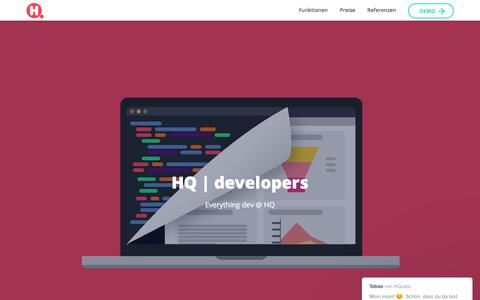Screenshot of Developers Page hellohq.io - Tobias sagt… - captured July 10, 2017