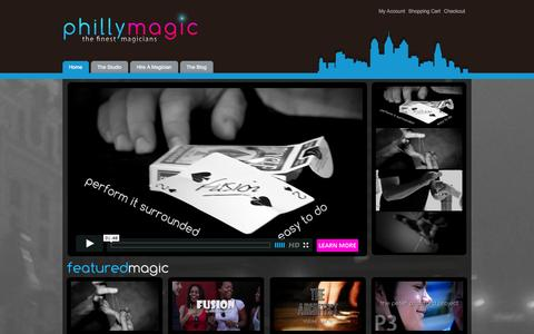 Screenshot of About Page Privacy Page Contact Page Terms Page phillymagic.com - Phillymagic .:. Hub For Magicians in and around the Philadelphia Area - captured Oct. 22, 2014