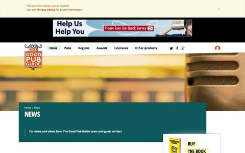 Screenshot of Press Page thegoodpubguide.co.uk - News | The Good Pub Guide - captured Feb. 29, 2016