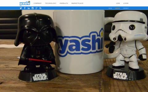 Screenshot of Jobs Page yashi.com - Silicon Valley meets the Jersey Shore   Yashi - captured July 18, 2014