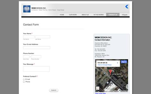 Screenshot of Contact Page Terms Page wgmdesign.com - CONTACT US - captured Oct. 26, 2014