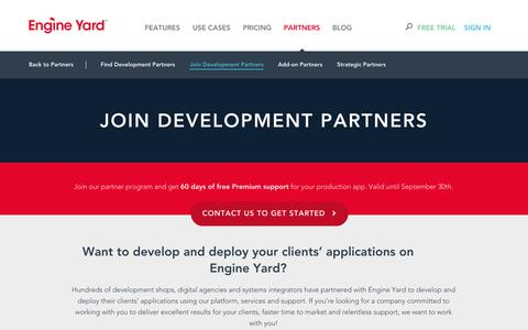 Screenshot of Signup Page engineyard.com - Development Partners - captured Oct. 10, 2014