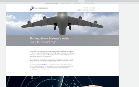 Screenshot of Services Page theaviationpeople.com - Start-ups & New Business Models - captured Oct. 7, 2014