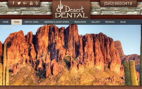 Screenshot of Team Page desertdentaltucson.com - Dentist in Tuscon, AZ | Dr. Barney and Staff - captured Nov. 24, 2016