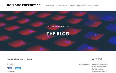 Screenshot of Blog irondogenergetics.com - Iron Dog Energetics - Blog - captured Sept. 20, 2018