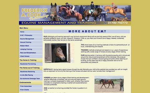 Screenshot of About Page equinetraining.co.uk - Equine Training and Management : Peterborough - captured Nov. 2, 2014