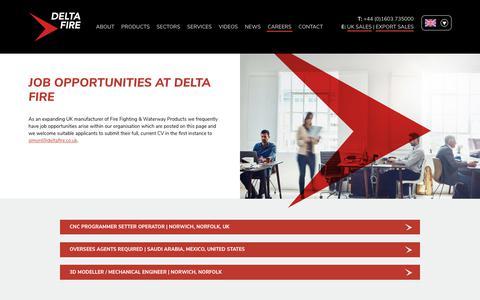 Screenshot of Jobs Page deltafire.co.uk - Careers   Delta Fire - captured Oct. 8, 2018