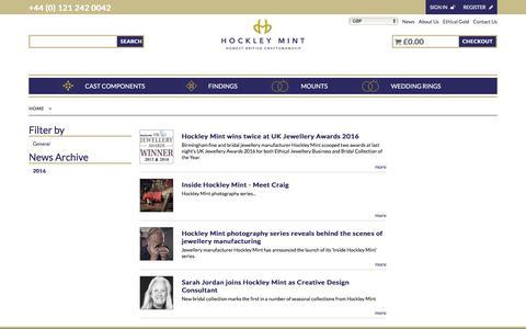 Screenshot of Press Page hockleymint.co.uk - News - captured Nov. 10, 2016