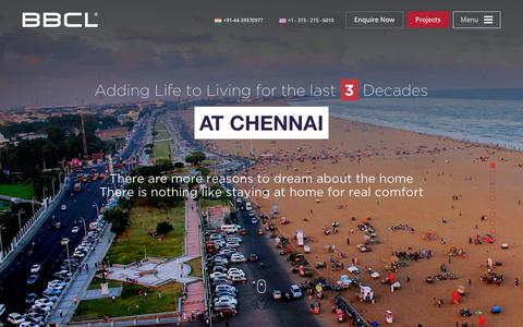 Screenshot of Home Page bbcl.in - BBCL - Luxury Residential Builders in Chennai | Top Builders in Chennai - captured Feb. 7, 2016