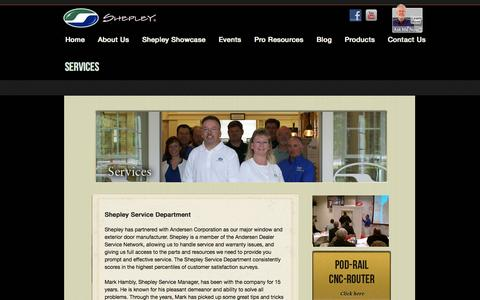 Screenshot of Services Page shepleywood.com - Services «  Shepley Wood Products - captured Oct. 26, 2014