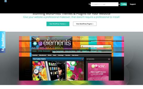 Screenshot of Home Page wpnow.com - Premium Wordpress Themes & Wordpress Plugins by WP Now - captured Feb. 17, 2016