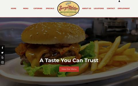 Screenshot of Home Page burgermeistersf.com - Burgermeister - Home - captured Oct. 7, 2018