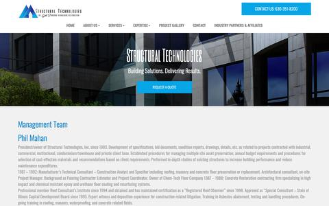 Screenshot of Team Page structuraltechnologiesinc.com - Project Management In Chicago - Learn About Our Team   Structural Technologies - captured Oct. 20, 2018