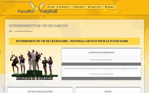 Screenshot of Home Page enterrement-de-vie-de-garcon-paintball.paris - Enterrements de Vie de Garcon - captured May 23, 2016