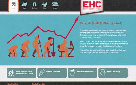 Screenshot of Home Page ehcsf.com - Welcome to Ethos Health Company - captured Oct. 2, 2014