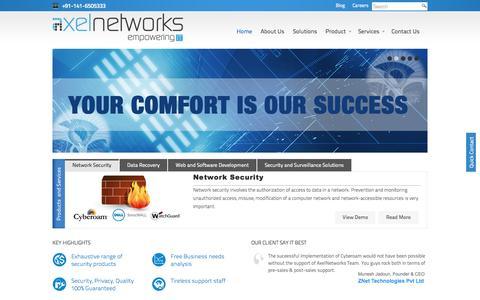 Screenshot of Home Page axelnetworks.com - Cyberoam Firewall   Cisco Firewall - Axel Networks - captured Sept. 30, 2014