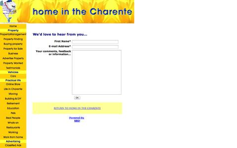 Screenshot of Contact Page home-in-the-charente.com - Contact Us - captured Sept. 30, 2014