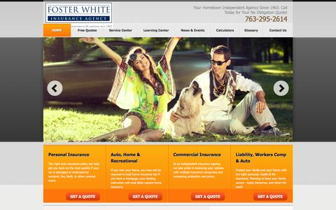 Screenshot of Maps & Directions Page foster-white.com - Auto Insurance Business Insurance Life Insurance Homeowners Insurance Agent. Agency Locations - captured Feb. 10, 2016