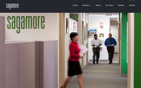 Screenshot of Contact Page sagamore.com - Contact – Sagamore - captured July 26, 2018