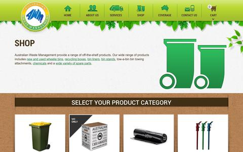 Screenshot of Products Page australianwastemanagement.com.au - Products - Australian Waste Management - captured Feb. 6, 2016
