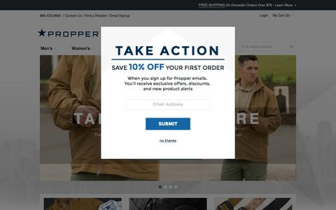 Screenshot of Home Page propper.com - Propper | Tactical Gear | Home page - captured Oct. 3, 2015