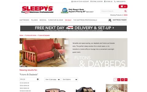 Space-Saving Futons and Daybeds - Sleepy's