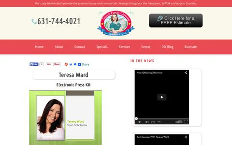 Screenshot of Press Page teresasfamilycleaning.com - House Cleaning News | Teresa's Family Cleaning | Long Island - captured Oct. 27, 2015