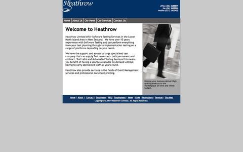 Screenshot of Home Page heathrow.co.nz - Home - captured Sept. 30, 2014