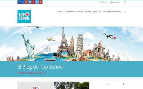 Screenshot of Blog topschool.es - Blog sobre nuestros cursos de idiomas en el extranjero - captured Oct. 27, 2017