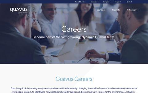 Screenshot of Jobs Page guavus.com - Guavus career opportunities - captured Jan. 30, 2019