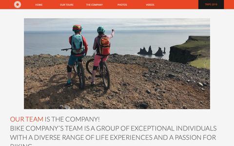 Screenshot of Team Page bikecompany.is - BIKE COMPANY TEAM IS THE COMPANY - bikecompany.is - captured Nov. 13, 2018
