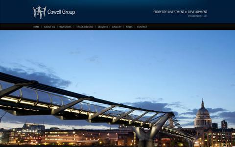 Screenshot of Home Page cowellgroup.net - Cowell Group - captured Sept. 30, 2014