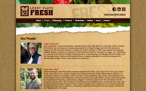 Screenshot of Team Page luckyclaysfresh.com - Aquaponics Experts | Commercial Aquaponics Training | Norwood NC - captured Dec. 13, 2015