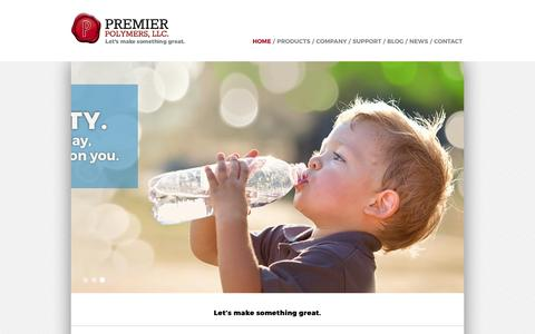 Screenshot of Home Page premierpolymers.com - Industry Leaders in Polyolefin Resins Distribution - Premier Polymers - captured Aug. 23, 2017
